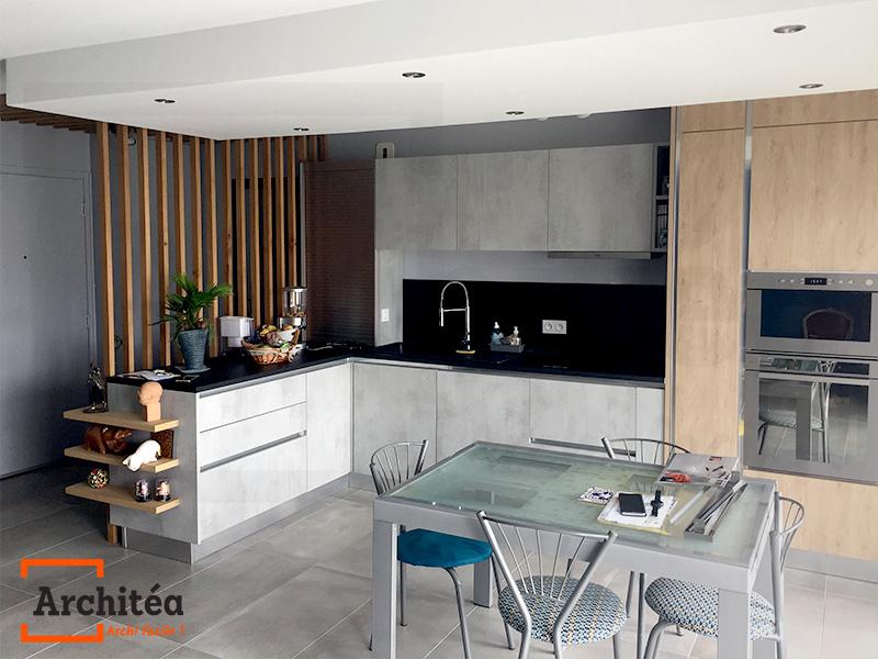Projet fini, photo d'une cuisine design posée
